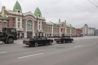 На репетиции парада Победы в Новосибирске