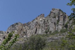 Скалы Долины приведений в окрестностях Алушты