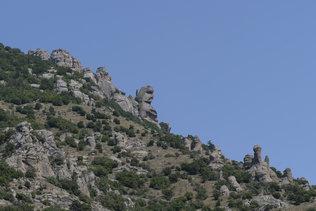 Голова Екатерины в долине привидений на горе Демерджи в Крыму