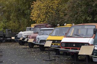 Осень на выставке ретро-автомобилей в музее имени Н.А. Акулинина