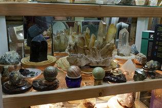 Коллекция камней в музее Оминых