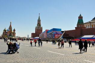 Красная площадь накануне Дня Победы