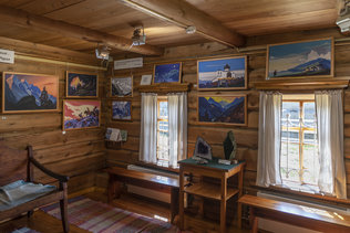 Картины в музее Н.К. Рериха в Верх-Уймоне
