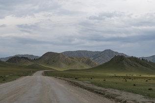 Дорожный пейзаж Усть-Коксинского района Республики Алтай