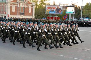 Десантники на репетиции парада Победы