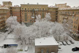 В Новосибирск пришла зима