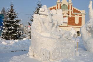 Джентельмены удачи - Сибирский фестиваль снежной скульптуры 2016