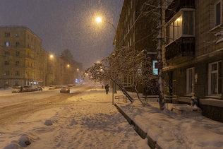 Метель на Серебренниковской улице