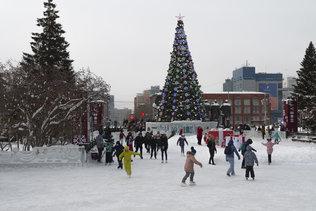 Новогодний каток на площади Ленина 2019
