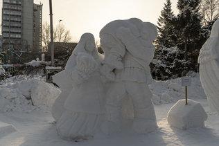"""Снежная скульптура """"Победа"""" из Новосибирска"""