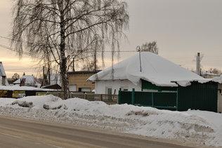 Заснеженные улицы Новосибирска