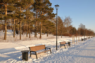 Зима на Михайловской набережной
