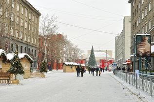 Новый год на улице Ленина