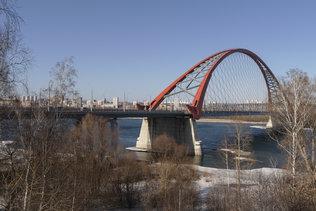 На смотровой площадке Бугринского моста