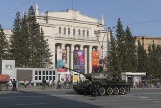 Танк Т-34 на репетиции парада Победы в 2021 году