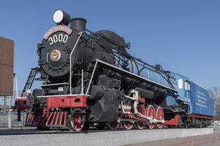 Паровоз ФД 21-3000 на проспекте Димитрова