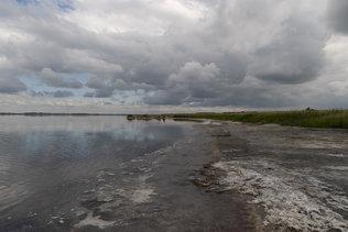 Грязь, соль и рапа на берегу Мормышанского озера