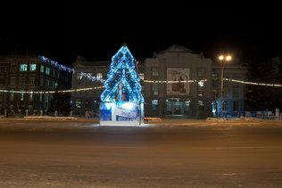 Ёлка у обладминистрации в Новосибирске