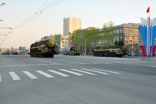 Ярс на репетиции парада Победы в Новосибирске