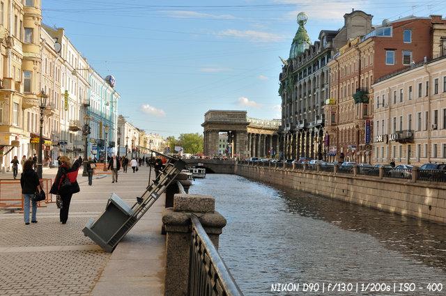 На канале Грибоедова в Санкт-Петербурге