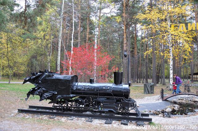 Осень в заельцовском парке