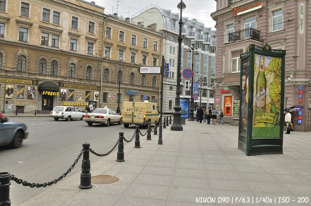 На пересечении Невского и Суворовского проспектов