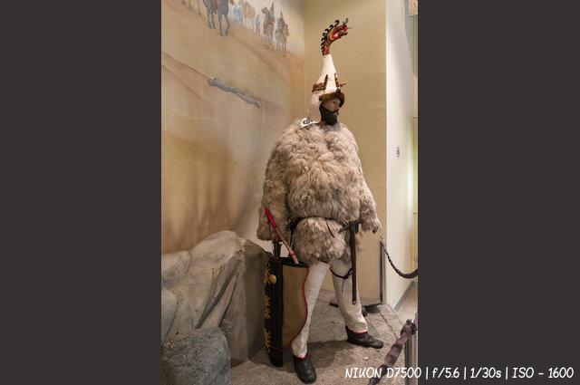 Древний воин в боевом одеянии