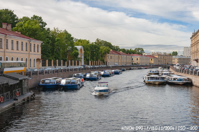 Вид на реку Мойку с Зелёного моста