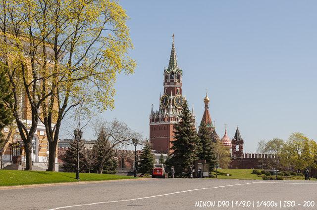 На прогулке в Кремле