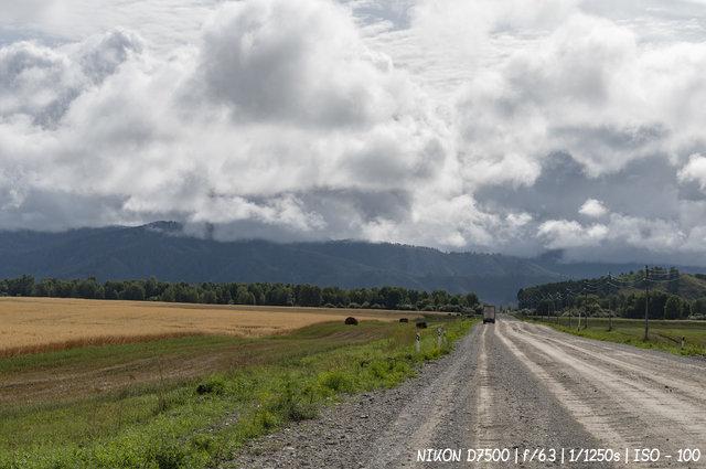 Дорога через Уймонскую долину в село Мульта