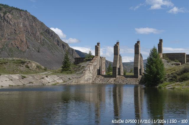 Заброшенная Акташская ГЭС