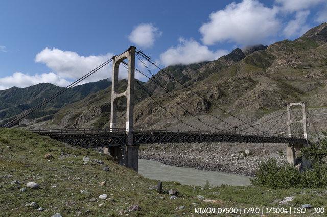 Цаплинский мост через реку Катунь