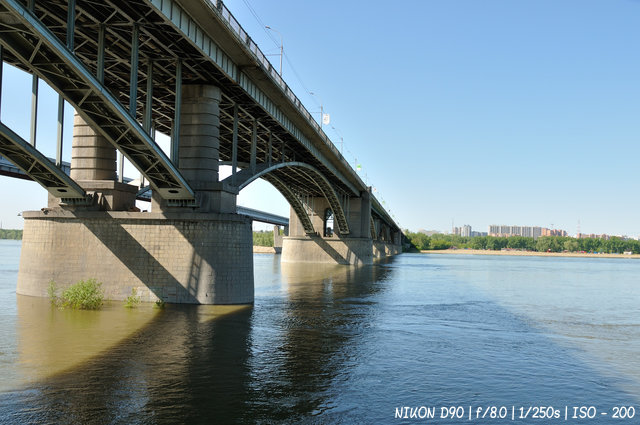 Октябрьский мост в Новосибирске