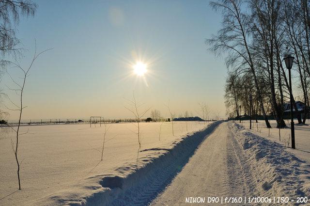 Зимнее солнце над Обским морем