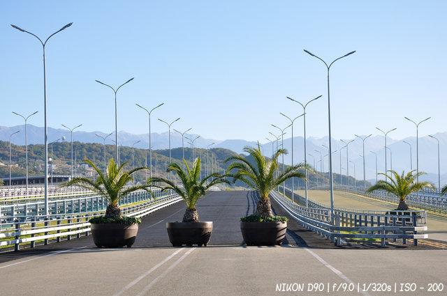 Въезд на автодром Сочи