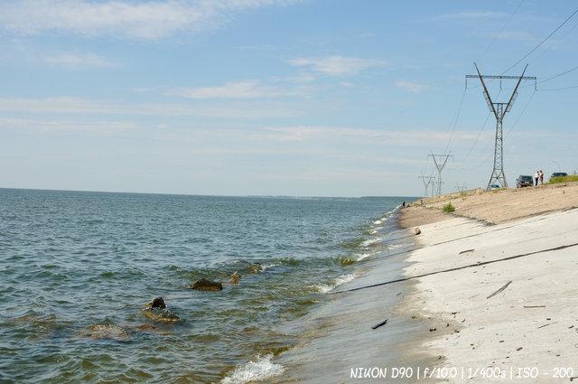 На дамбе новосибирской ГЭС