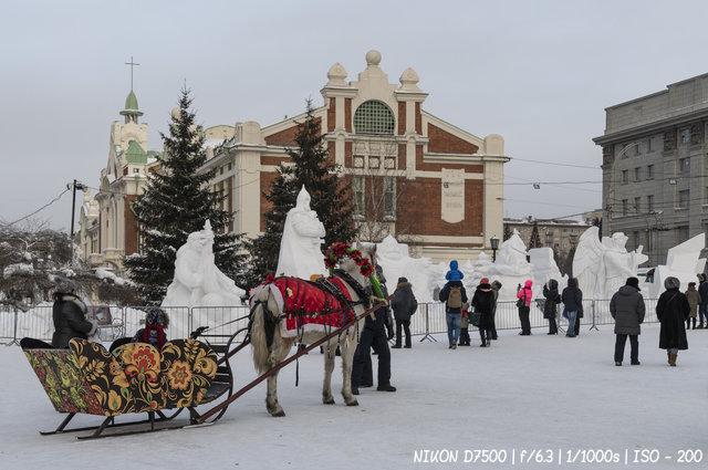 XXI Сибирский фестиваль снежной скульптуры в Новосибирске