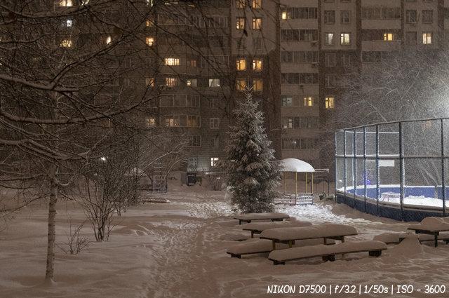 Заснеженные дворы Новосибирска