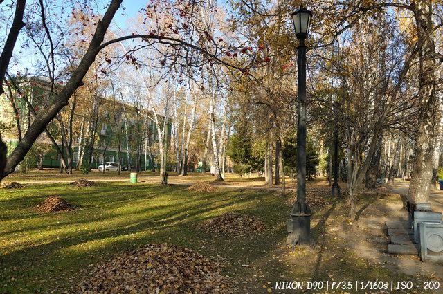Осенний субботник в Павловском сквере