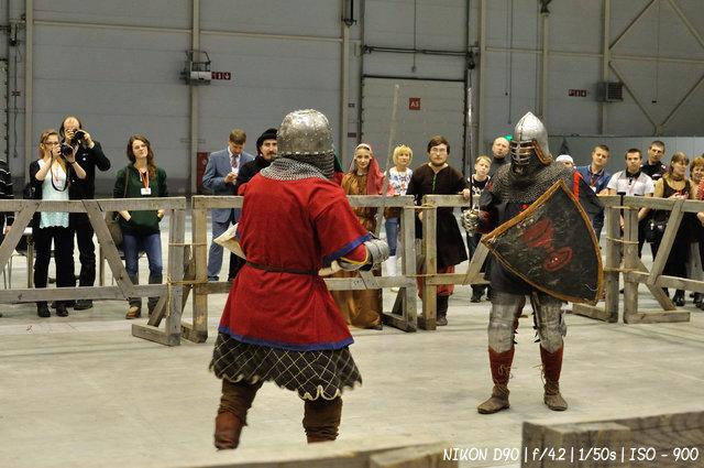 Реконструкция рыцарского боя
