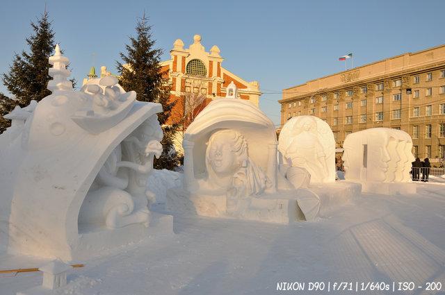 Год театра на сибирском фестивале снежной скульптуры