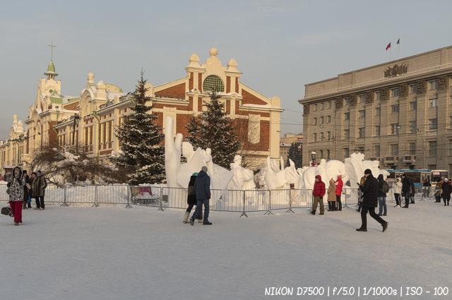 20-ый фестиваль снежной скульптуры в Новосибирске