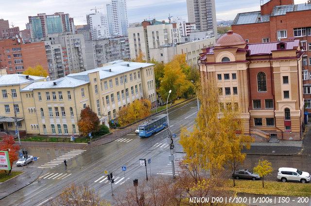 Пожелтевший Новосибирск