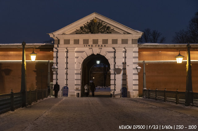 Иоанновские ворота Петропавловской крепости
