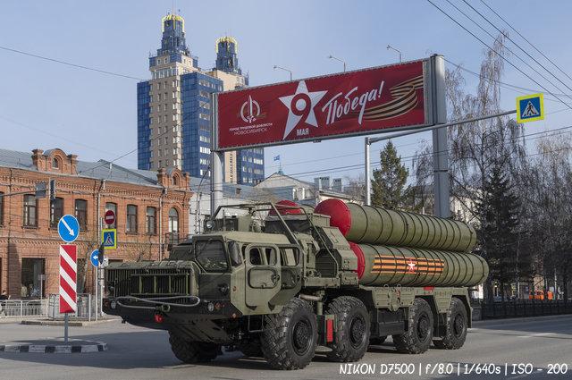 Ракетный комплекс С-400 на репетиции парада Победы в Новосибирске