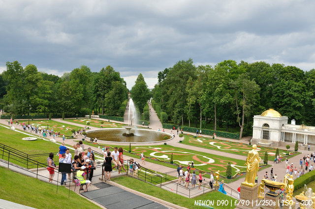 В нижнем парке Петергофа