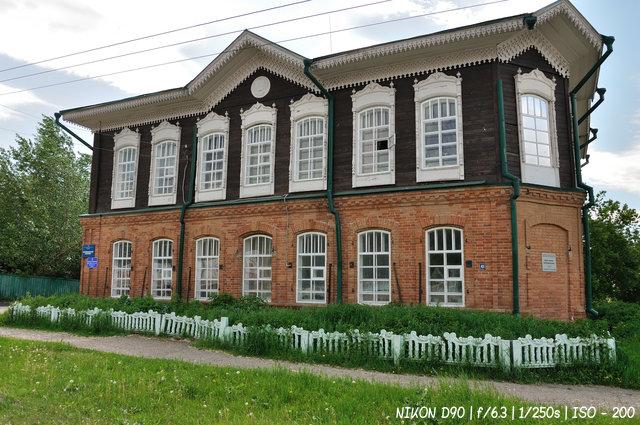 Дом купца И.И. Кроткова в Колывани. Построен в 1900г.