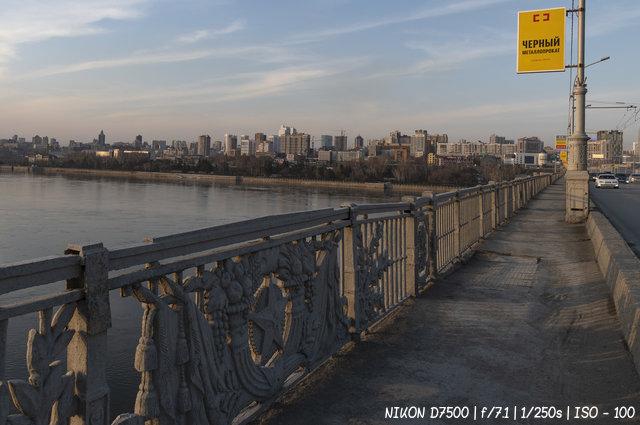 Октябрьский (коммунальный) мост в Новосибирске