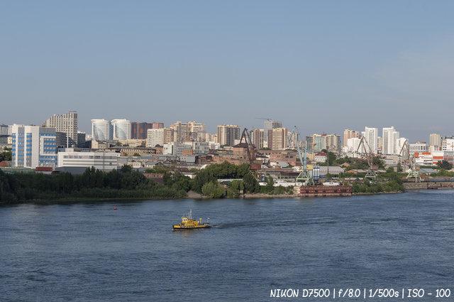 Городской пейзаж. Вид на Новосибирск с Димитровского моста.
