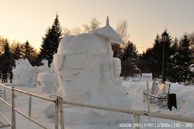 Зимний зной - Сибирский фестиваль снежной скульптуры - тема Сочи 2014